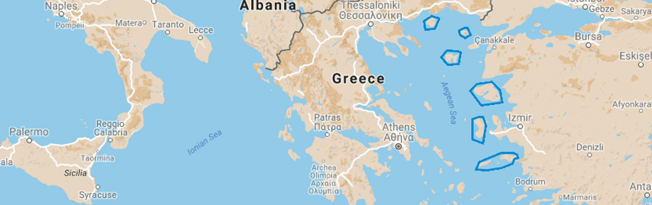 Eastern aegean map